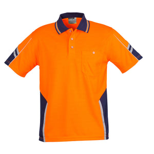 The Squad Polo | Mens | Short Sleeve | Orange/Navy