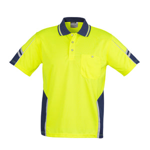 The Squad Polo | Mens | Short Sleeve | Yellow/Navy