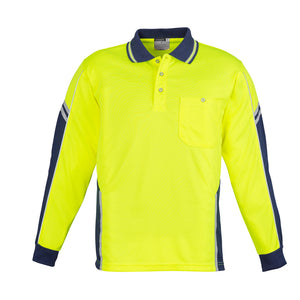 The Squad Polo | Mens | Long Sleeve | Yellow/Navy