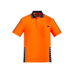The Komodo Polo | Mens | Short Sleeve | Orange/Navy