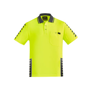 The Komodo Polo | Mens | Short Sleeve | Yellow/Charcoal