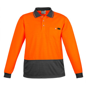 Comfort Back Polo | Orange/Charcoal