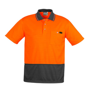 Comfort Back Polo SS | Orange/Charcoal