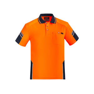 The Squad Polo RE | Mens | Short Sleeve | Orange/Navy