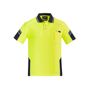 The Squad Polo RE | Mens | Short Sleeve | Yellow/Navy