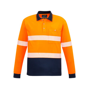 The Jason Polo | Mens | Long Sleeve | Orange/Navy