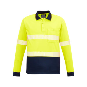 The Jason Polo | Mens | Long Sleeve | Yellow/Navy