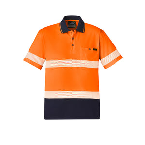 The Jason Polo | Mens | Short Sleeve | Orange/Navy