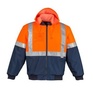 The Lincoln Jacket | Mens | Taped | Orange/Navy