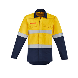 The Peter Shirt | Mens | Hi Vis Taped | Flame Resistant | Open Front