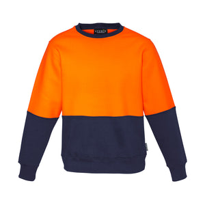 The Ross Crew Jumper | Mens | Orange/Navy