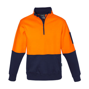 The Justin Jumper | Mens | 1/4 Zip | Orange/Navy