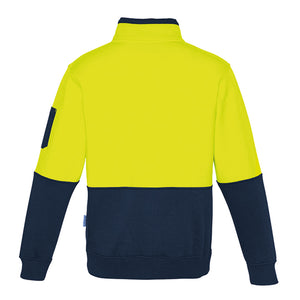 The Justin Jumper | Mens | 1/4 Zip | Yellow/Navy