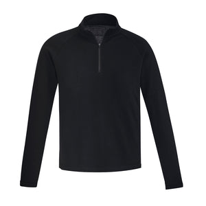 Merino Wool Mid-Layer Pullover | Black