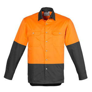 The Matt Shirt | Mens | Long Sleeve | Orange/Charcoal