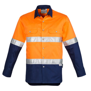 The Steve Shirt | Mens | Long Sleeve | Orange/Navy