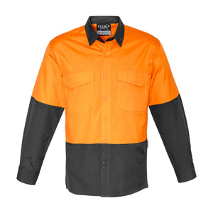 The John Shirt | Mens | Long Sleeve | Orange/Charcoal
