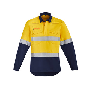 The Julian Shirt | Mens | Hi Vis Taped | Flame Resistant | Closed Front