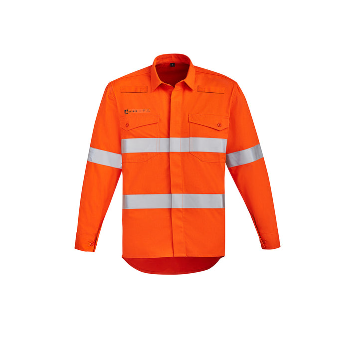 The Greg Shirt | Mens | Hi Vis Taped | Flame Resistant | Open Front