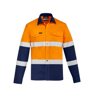 The Dave Shirt | Mens | Long Sleeve | Orange/Navy
