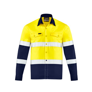 The Dave Shirt | Mens | Long Sleeve | Yellow/Navy