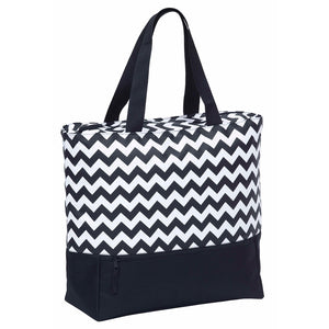 Oasis Cooler Tote | Black/White