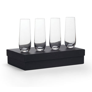 The Stemless Champagne Flute Set