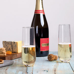Stemless Champagne Flute Set