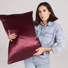 pillowcase - plum - queen - zippered