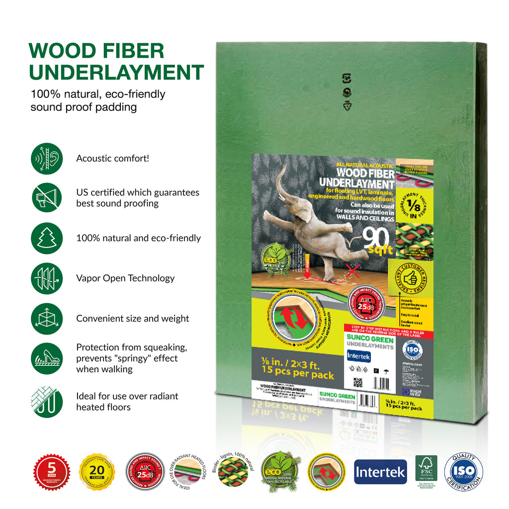 100% Natural Wood Fiber Underlayment