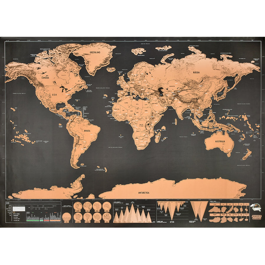 Deluxe Erase World Travel Map - TRAVEL CONPASSION