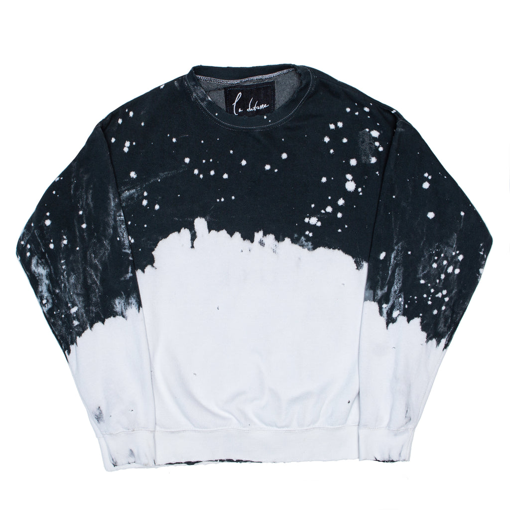 Acid Wash Charcoal Pullover