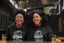 Load image into Gallery viewer, Black Woman Evolving Beautifully Hoodie