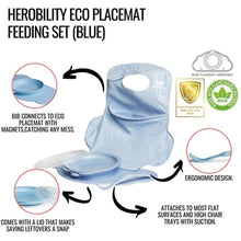Load image into Gallery viewer, Eco Placemat Feeding Set Blue