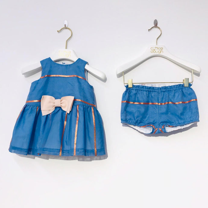 Bow Baby Dress & Bloomers