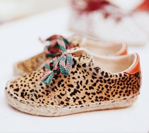 Leopard Tie Up Moccassins