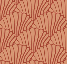 Load image into Gallery viewer, Seashells Terracotta Pink & Burgundy Red Fitted Sheet 70x140cm