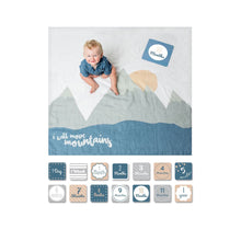 Load image into Gallery viewer, Baby's First Year - I Will Move Mountains - Blanket & Card Set