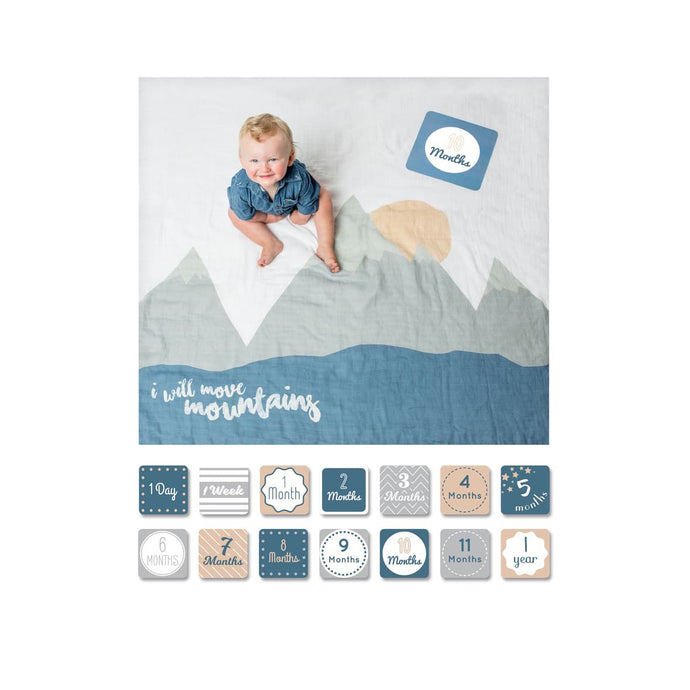 Baby's First Year - I Will Move Mountains - Blanket & Card Set