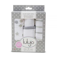 Load image into Gallery viewer, Lulujo Muslin Wash Cloths Grey
