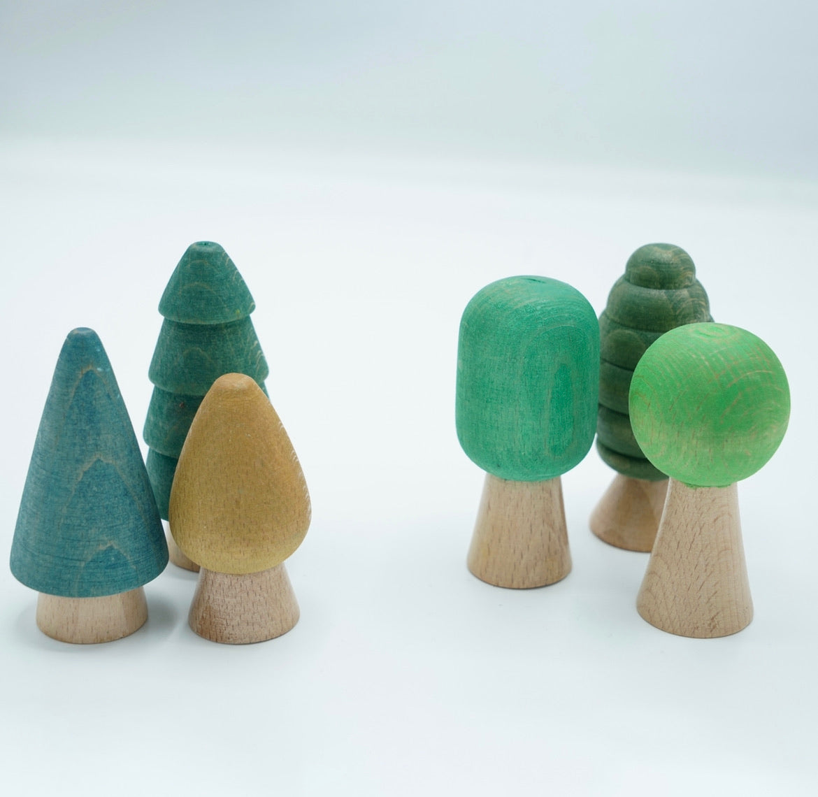 Set of 6 Wooden Trees