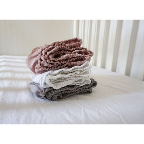 Linen Fitted Crib Sheet