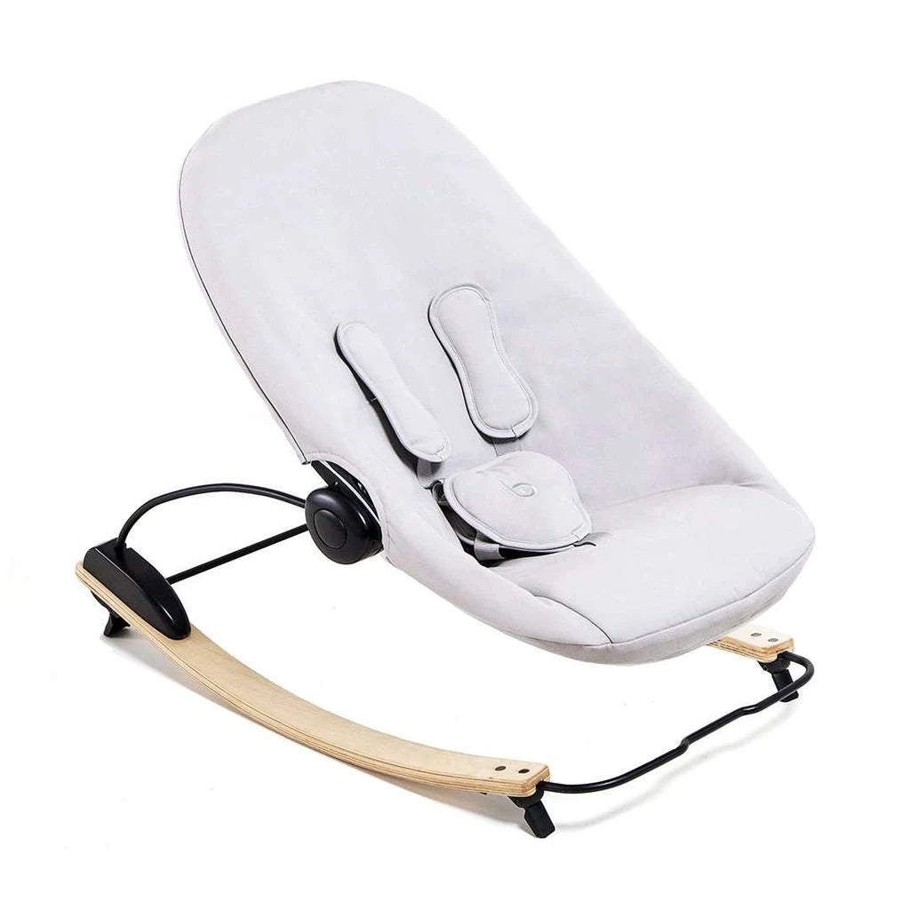 coco go 3-in-1 baby lounger - natural, frost grey