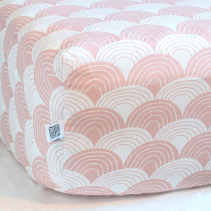 Rainbows Nudy Pink Fitted Sheet 70x140cm