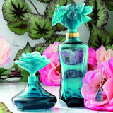 "Blue Prestige Perfume Bottle ""Rose Romance"" Daum-Perfume Bottle-Daum-[Australia]-Merry & Modern"