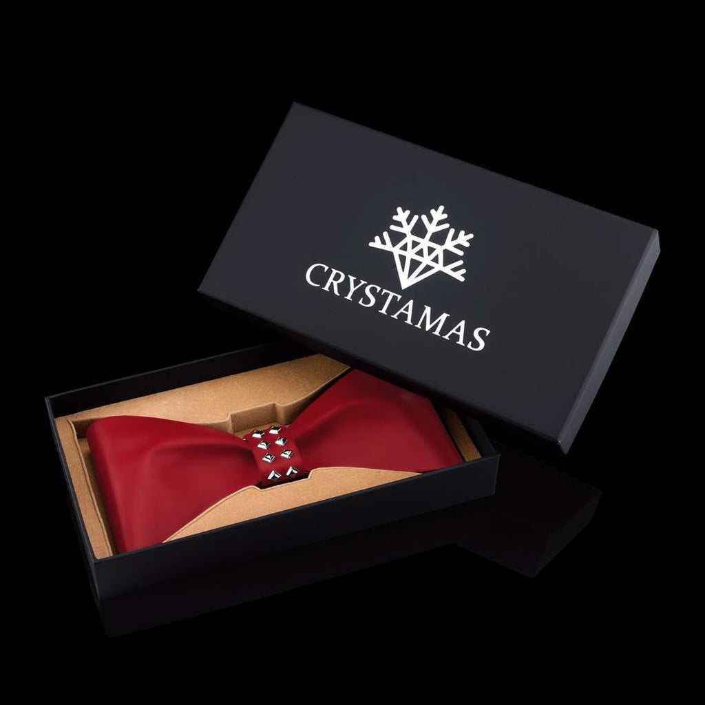 Bow LUXE ORNAMENTS, Red-Christmas Ornaments-Crystamas-[Australia]-Merry & Modern