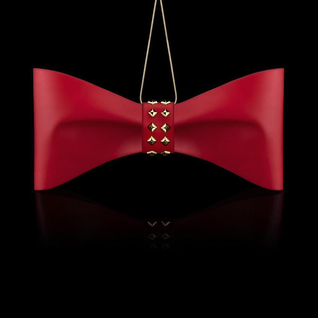 Bow LUXE ORNAMENTS, Red-Christmas Ornaments-Crystamas-[Australia]-CR-027-Merry & Modern