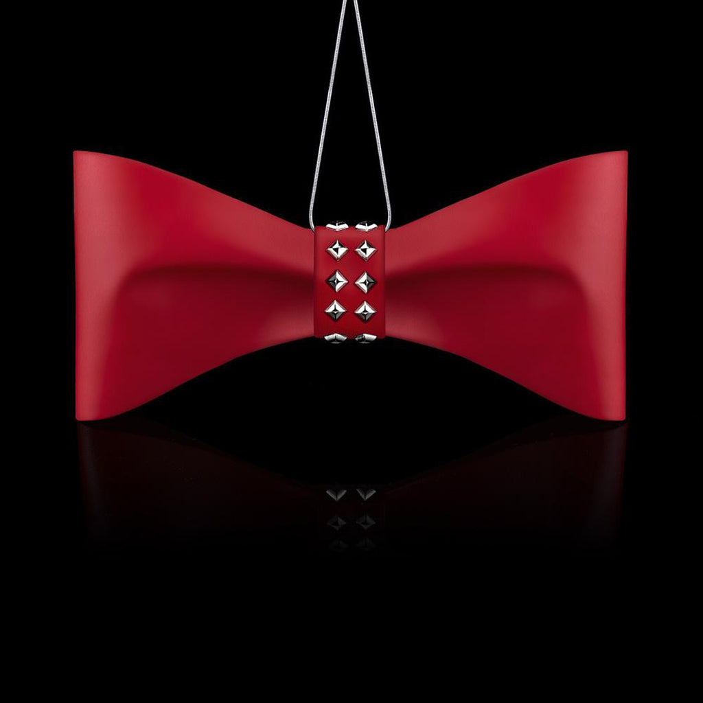Bow LUXE ORNAMENTS, Red-Christmas Ornaments-Crystamas-[Australia]-CR-028-Merry & Modern