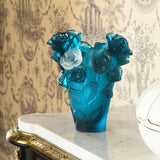 "Small Blue Vase ""Rose Passion"" Daum-Vase-Daum-[Australia]-DA-05287-7-Merry & Modern"