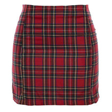 "Load image into Gallery viewer, ""Going Plaid"" Red Skirt"